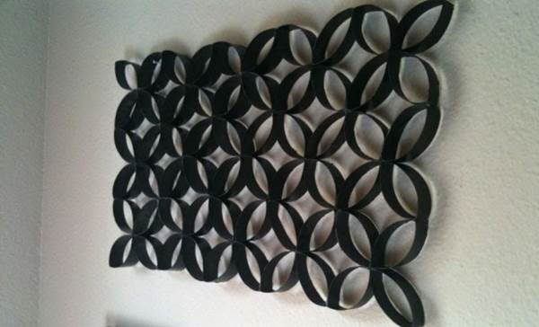 How to DIY Toilet Paper Roll Flower Wall Art 5