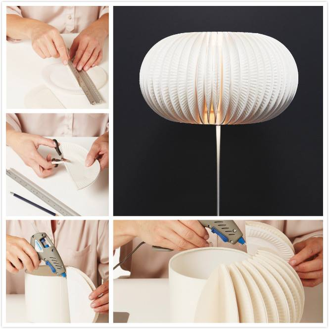 & How to Make Beautiful Lamp from Paper Plates