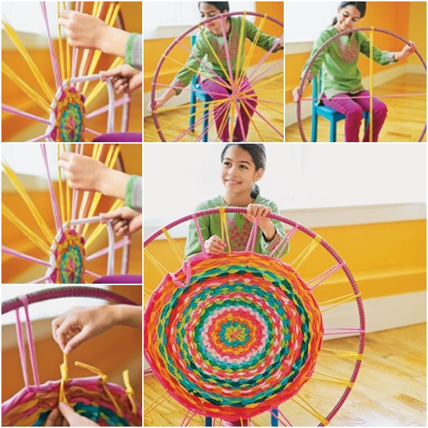 Hula-Hoop-Woven-Rug-From-Old-T-Shirts