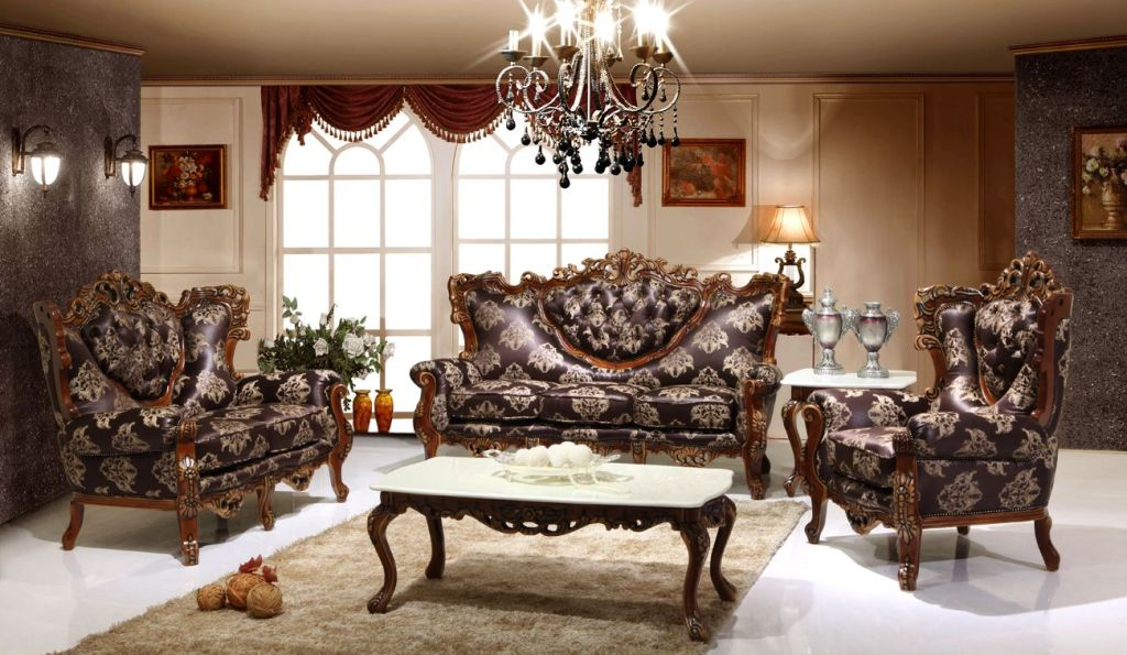 Luxury Living Room Design in Gothic Victorian Ideas