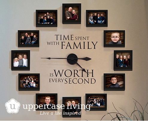 NEW-Time-spent-with-family-family-photo-wall-clock