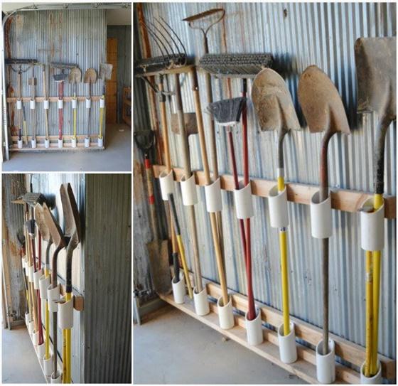 PVC Gardening Ideas and Projects PVC Garden Tool Organizer