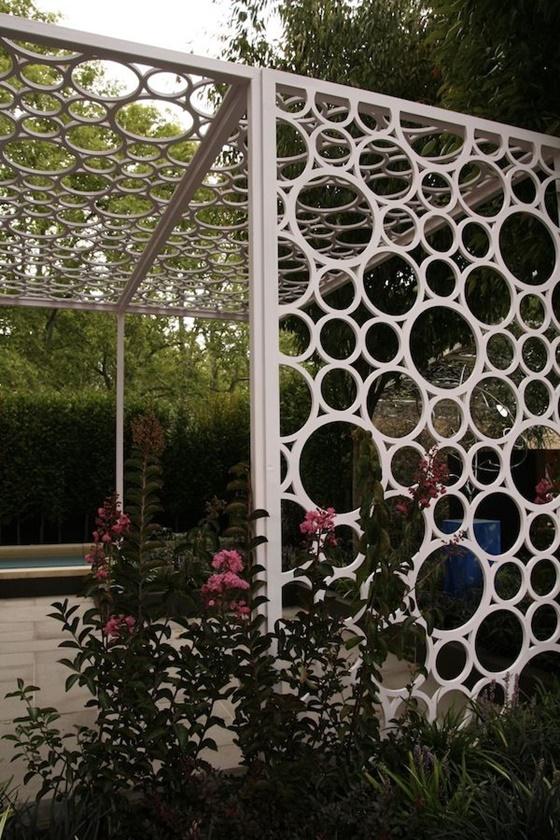 PVC Gardening Ideas and Projects PVC Garden Trellis2