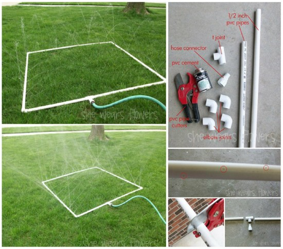PVC Gardening Ideas and Projects PVC Sprinkler