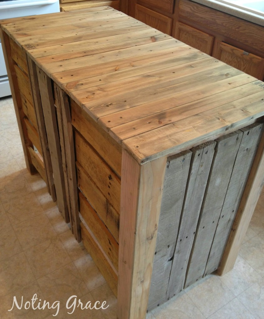How To Make A Kitchen Island Out Of Pallets