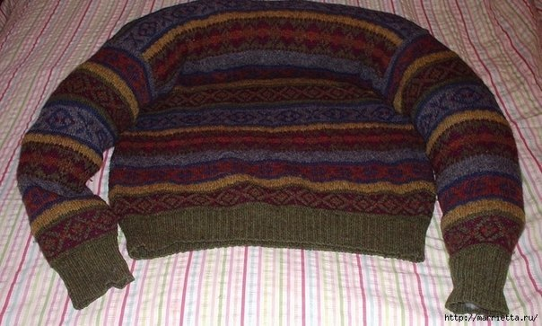 Pet Bed from Old Sweater 4