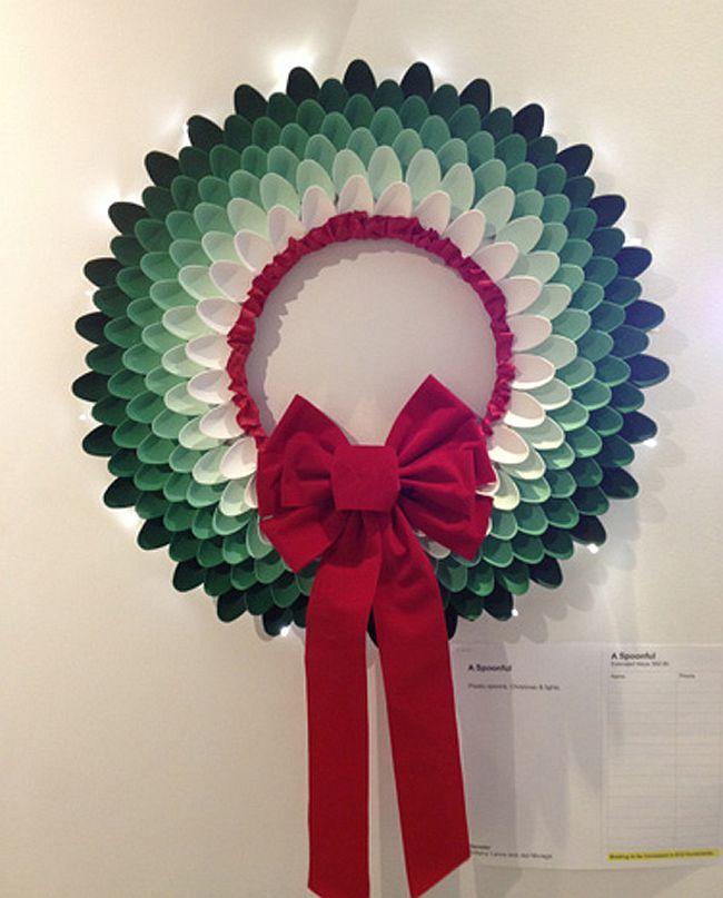 Creative Decor Ideas Made From Plastic Cutlery