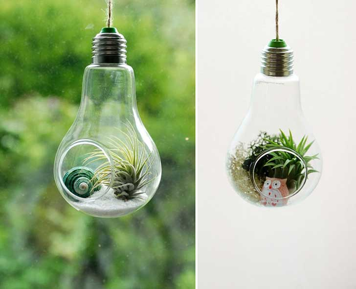 20+ Fantastic DIY Ways To Recycle Old Light Bulbs