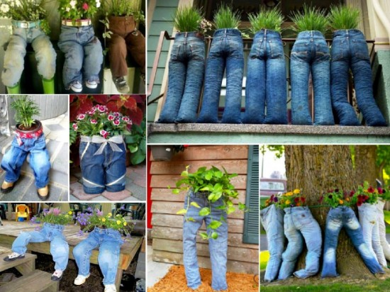 Diy Fun Recycled Jean Planter