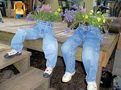 Recycled Jeans Planters3