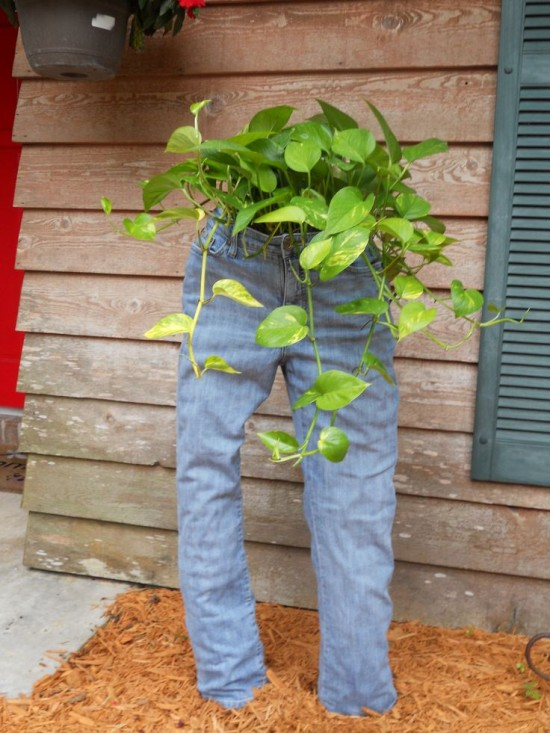 Recycled Jeans Planters5