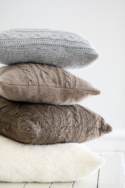DIY Repurposed Sweater Pillows