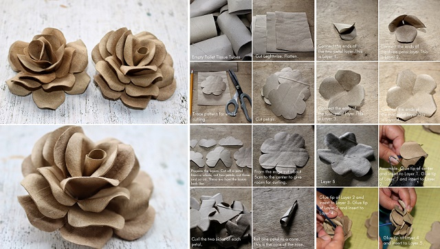 How To Make Roses Using Toilet Tubes