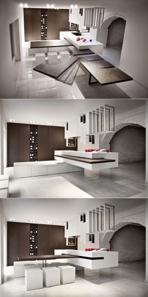 Slide-away-table