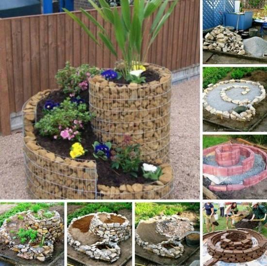 Spiral Herb Garden wonderfuldiy1