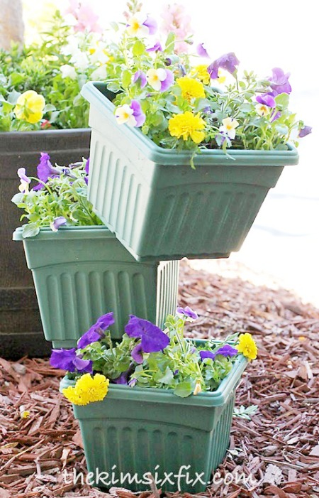 Stacked Flower Pot Ideas
