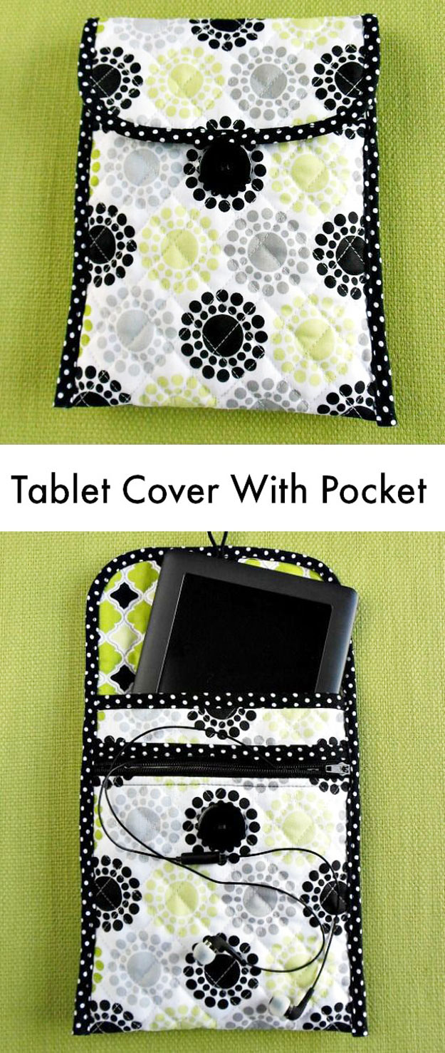 Tablet Cover With Zippered Pocket