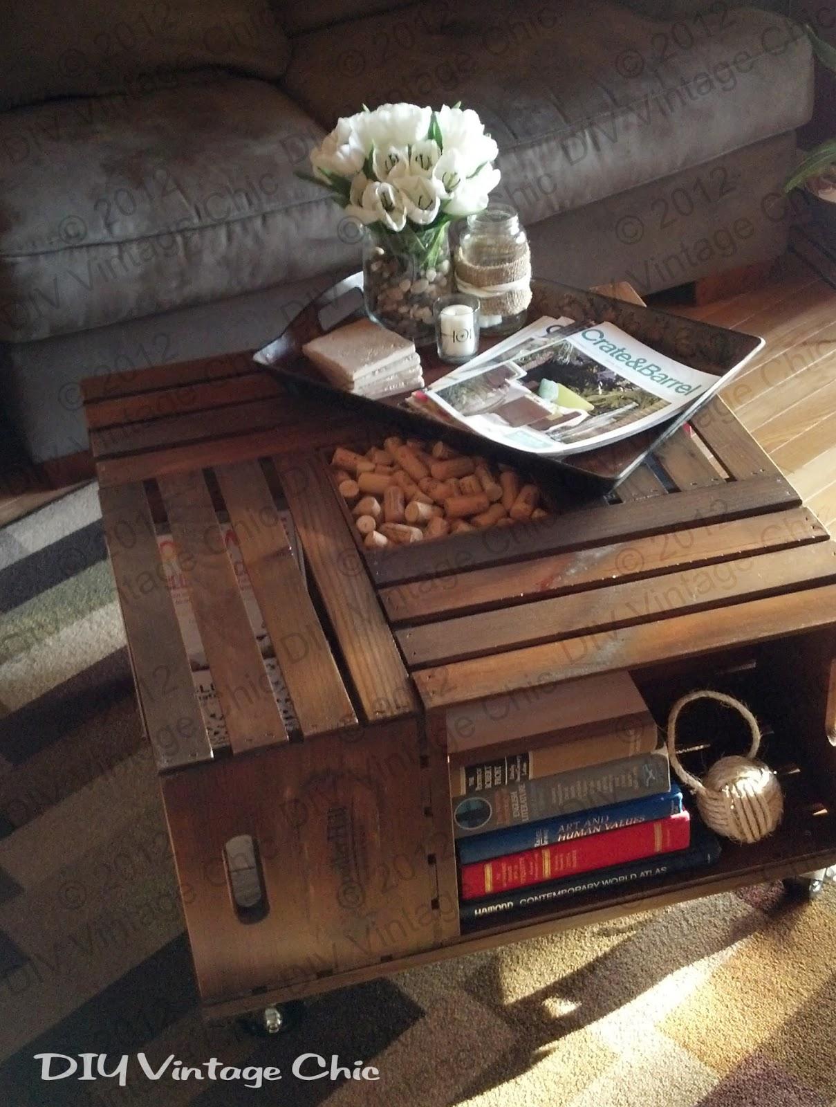 Vintage Wine Crate Coffee Table