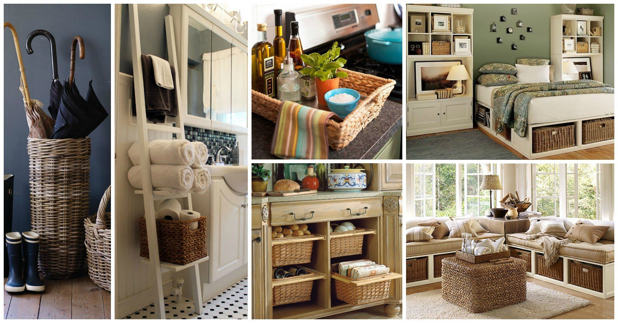 15 awesome ways to incorporate wicker baskets in your interior. Black Bedroom Furniture Sets. Home Design Ideas