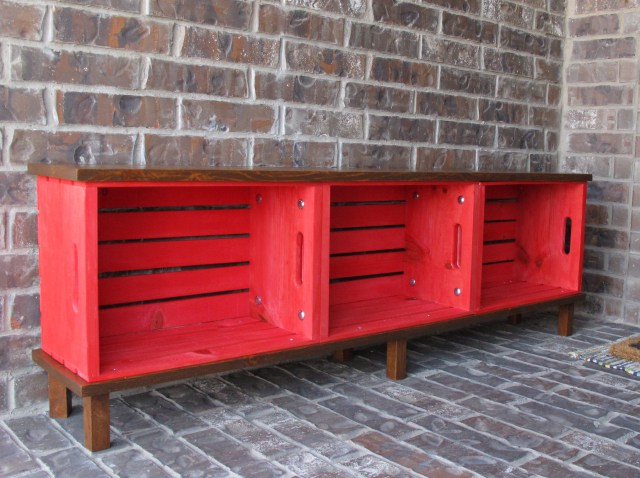 Wood Crate Bench