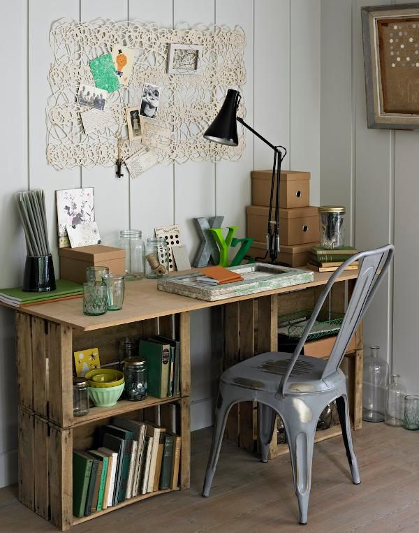 Wood Crate Desk