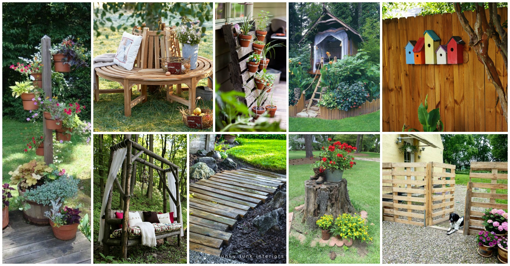 15 awesome diy wooden decoration for your garden for Diy home design ideas landscape backyard