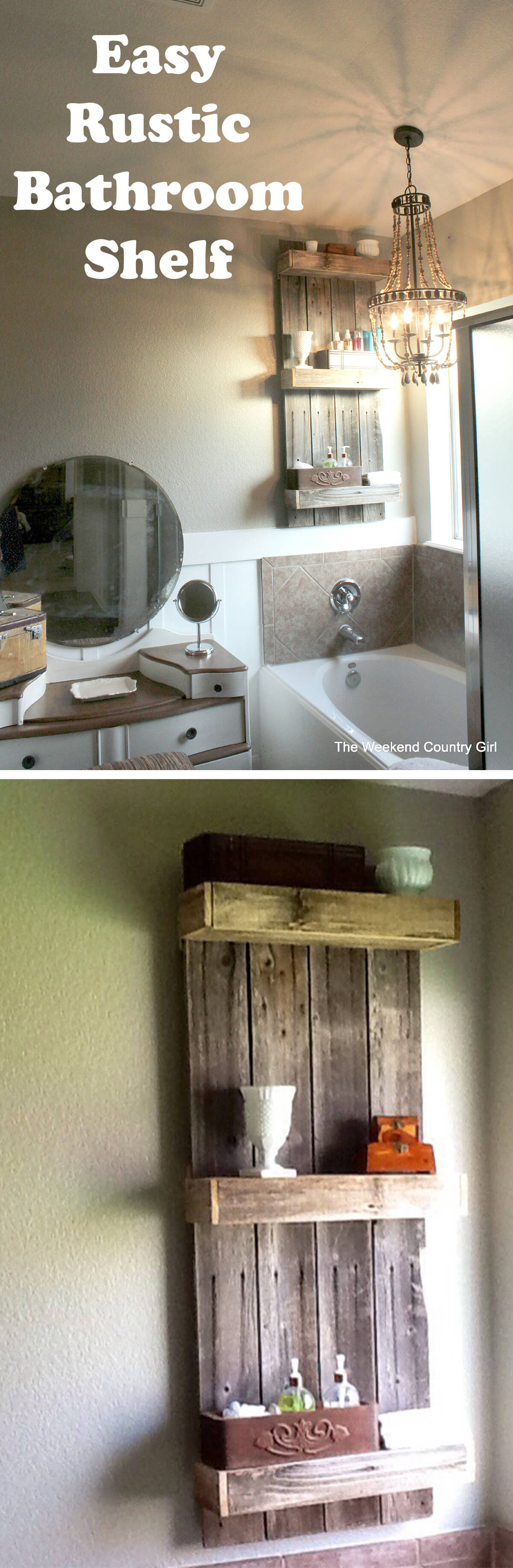 clever bathrooms with n o facebook huffpost hacks your big problems shelving for small shelf bathroom ideas