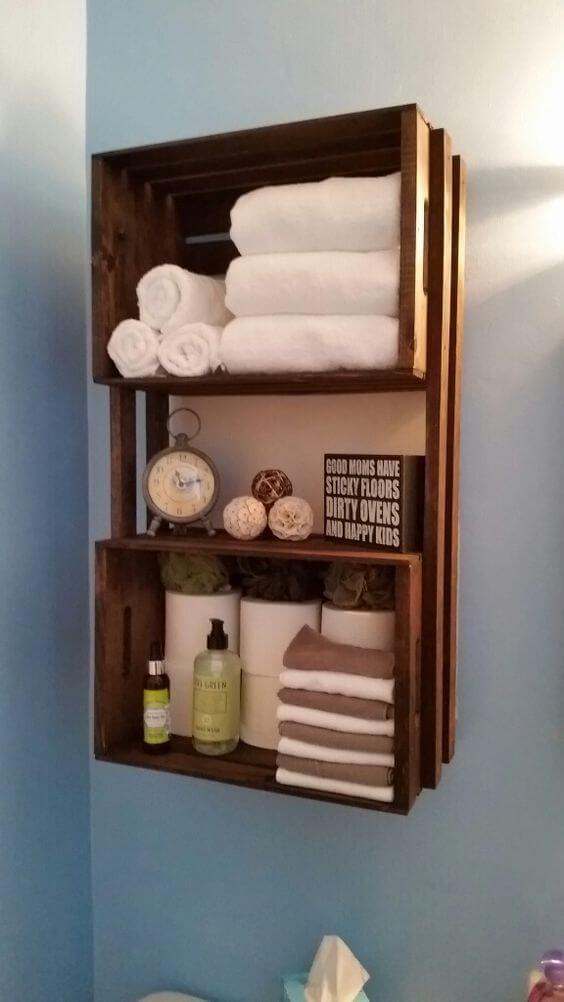 22 Unique Bathroom Shelves Ideas Pinterest