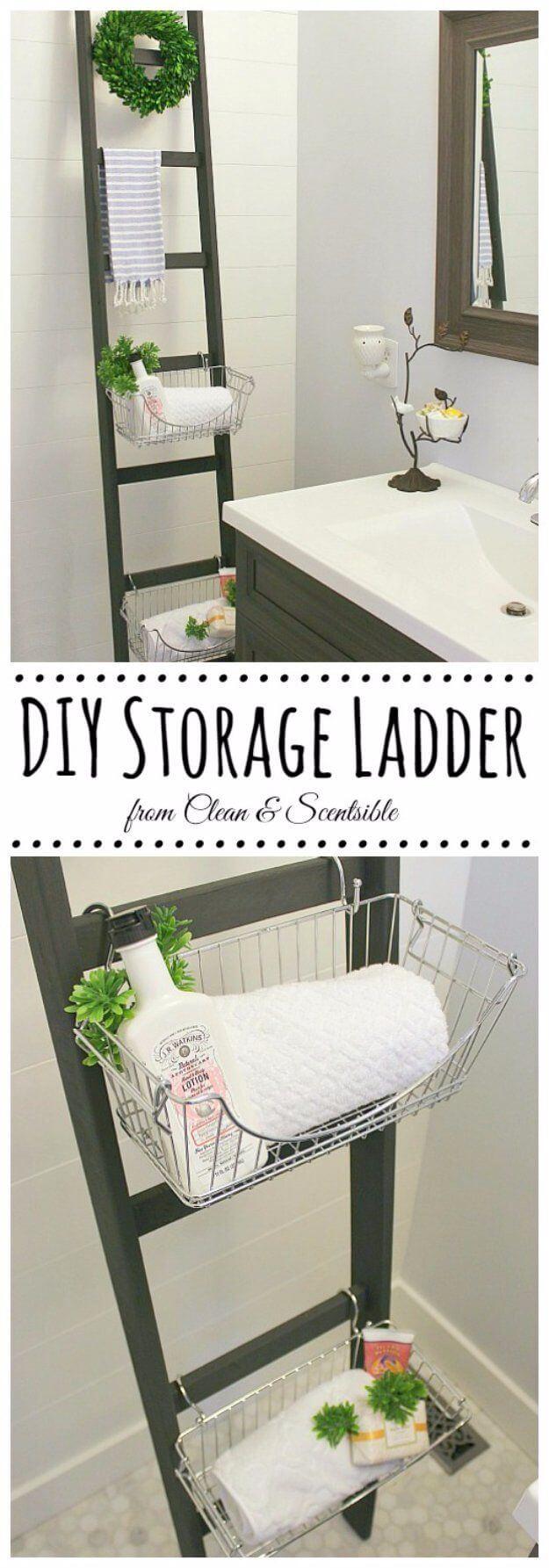 20+ Brilliant DIY Bathroom Shelf Ideas