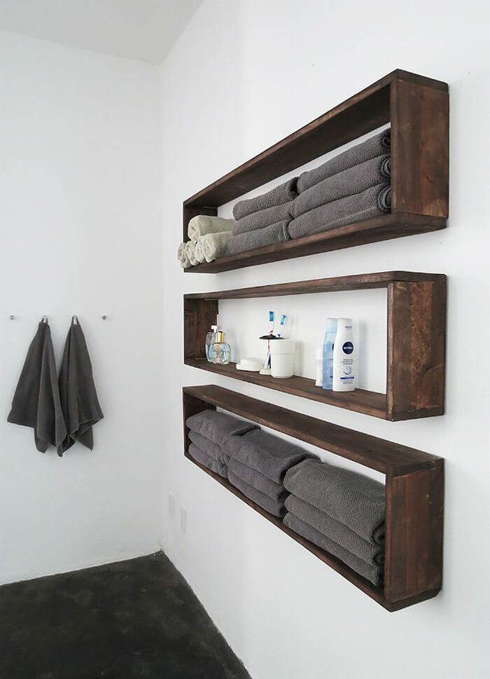 20+ Brilliant DIY Bathroom Shelf Ideas