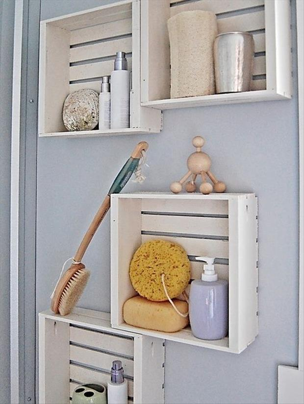 15+ Lovely DIY Bathroom Storage Ideas