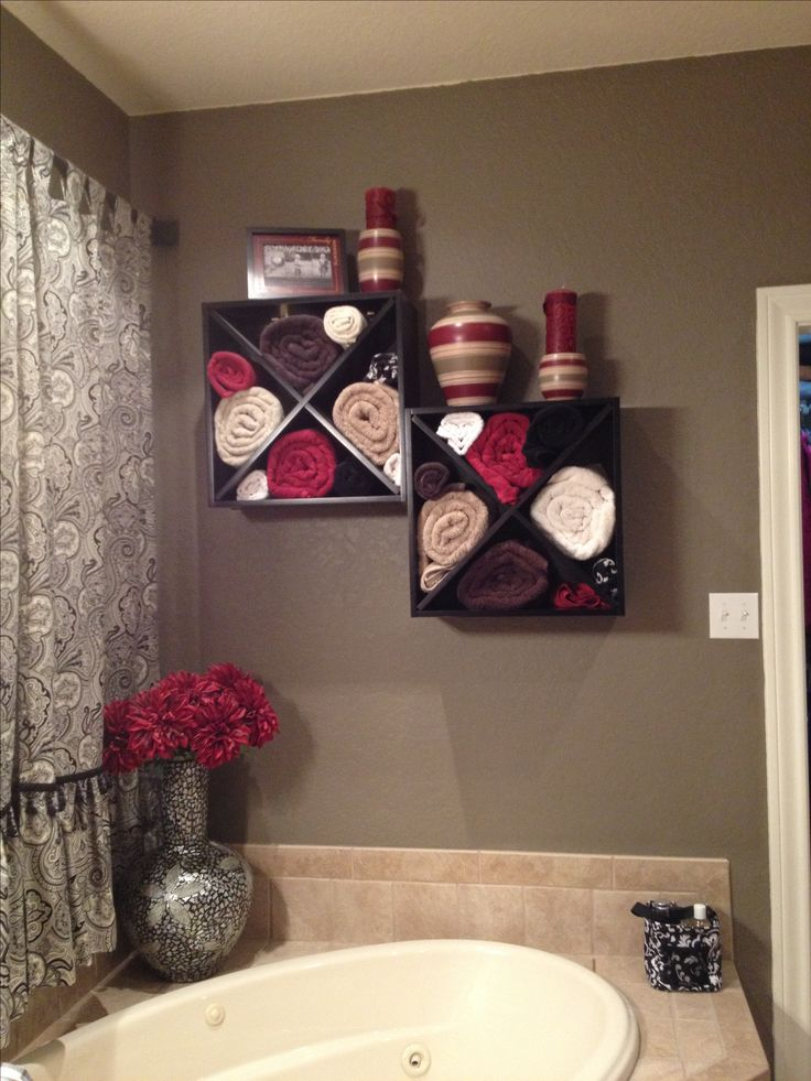 creative bathroom towel storage