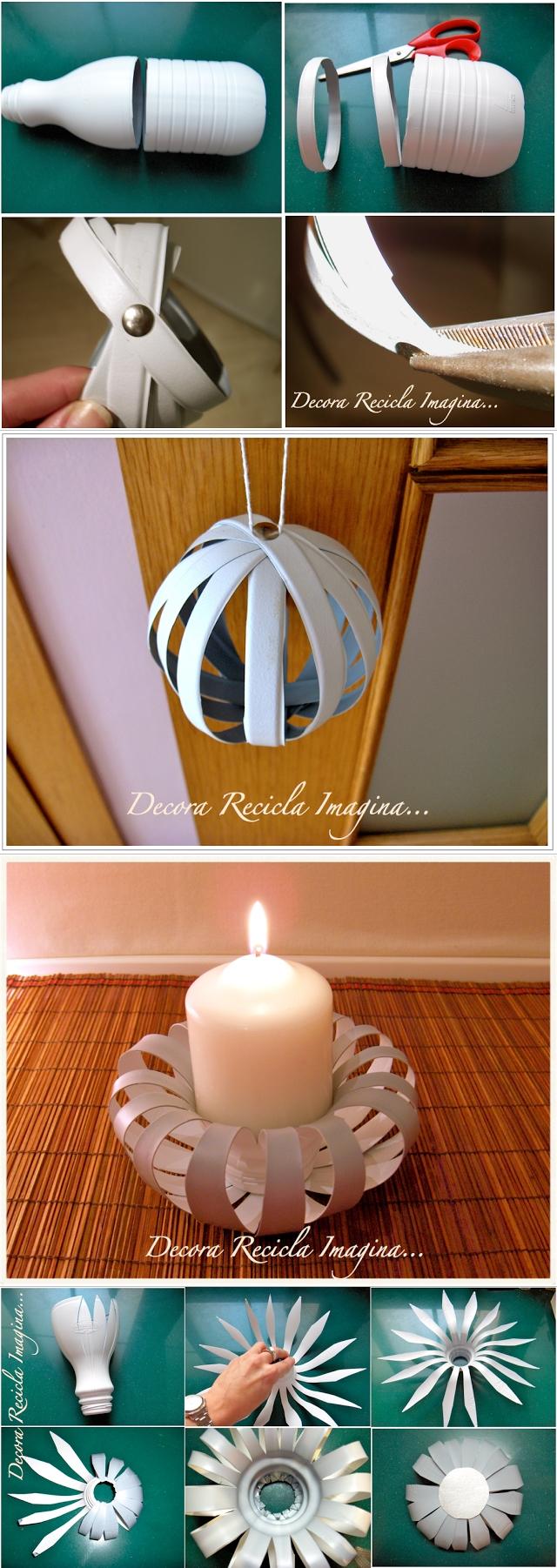 DIY Candle Holder from Plastic Bottle