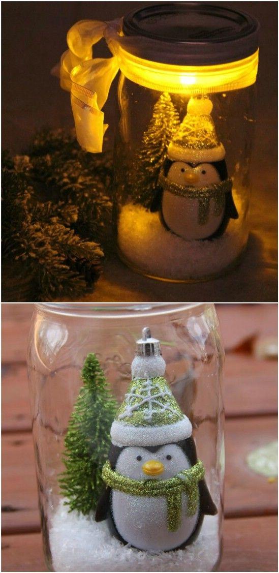 15+ DIY Christmas Mason jars