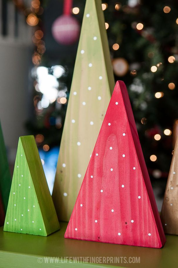 15+ DIY Christmas Wood Crafts