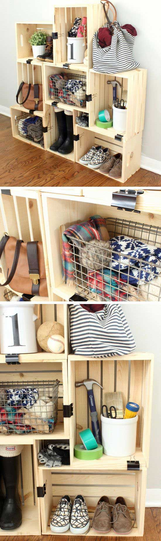 7 Easy Home Storage Hacks A place for everything and everything in its place is a great maxim, if you have plenty of space. Closets and drawers fill quickly, though.