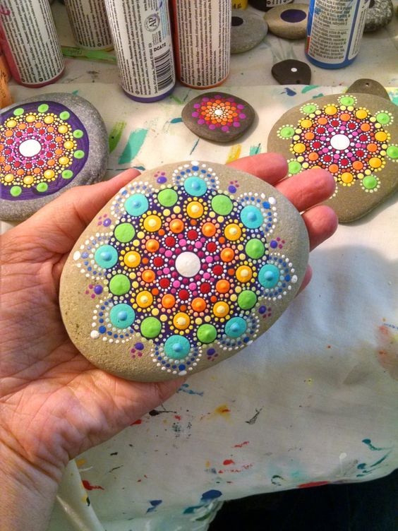 diy colored stone crafts