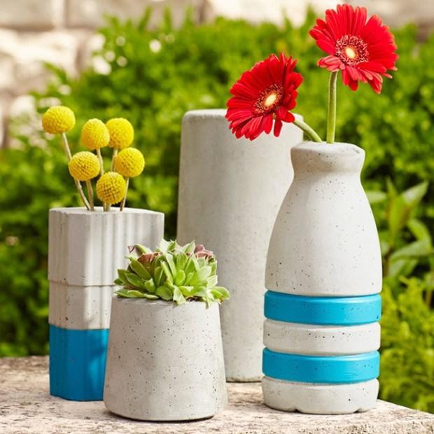 concrete flower vase 10