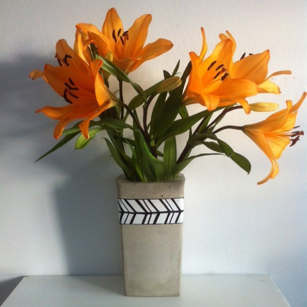 Gorgeous Diy Concrete Flower Vases