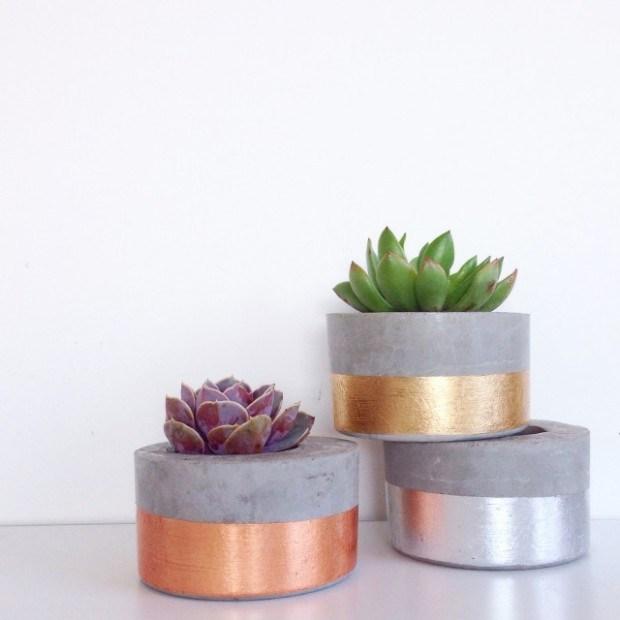 concrete flower vase 2