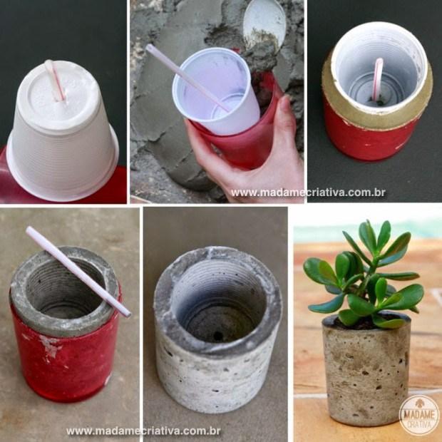 concrete flower vase 5