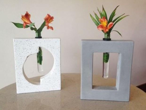 concrete flower vase 6