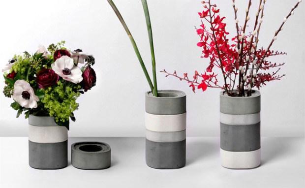 Gorgeous DIY Concrete Flower Vases