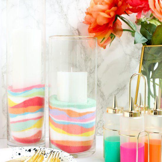 decor vase using colored sand 15