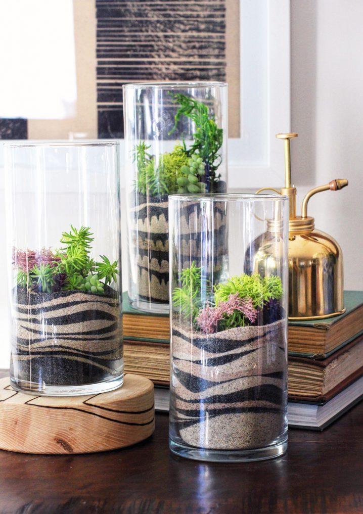 decor vase using colored sand 2
