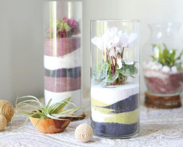 decor vase using colored sand 3