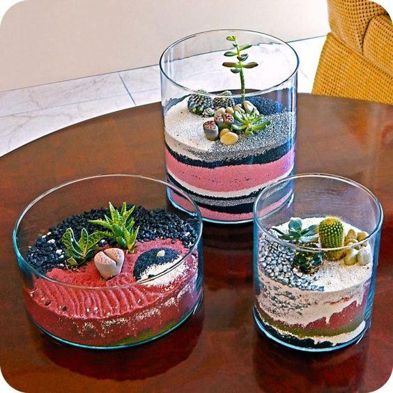 decor vase using colored sand 4