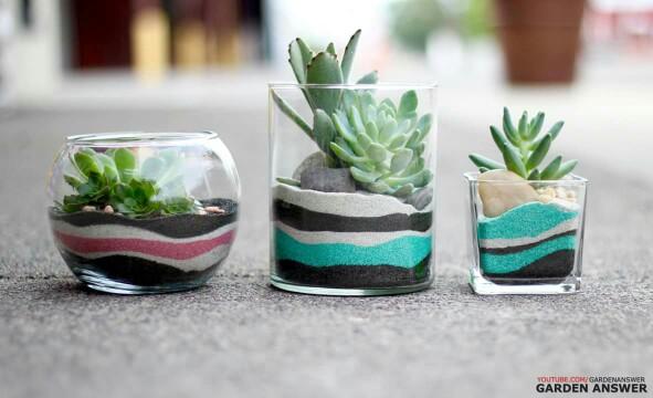 decor vase using colored sand 9