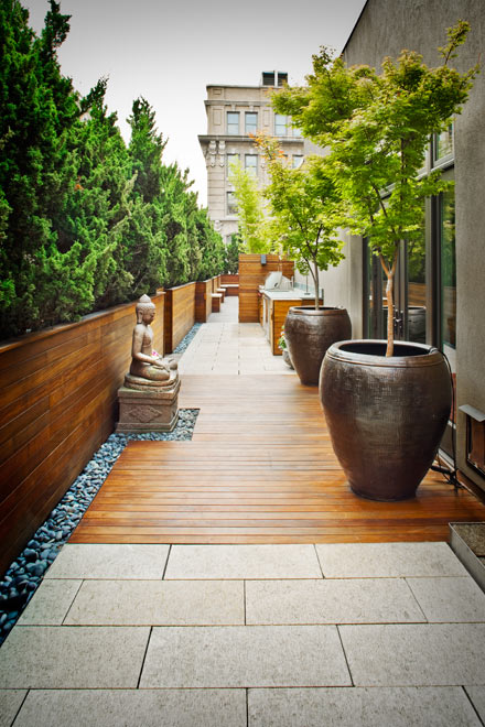 decorate your balcony with pebbles 6