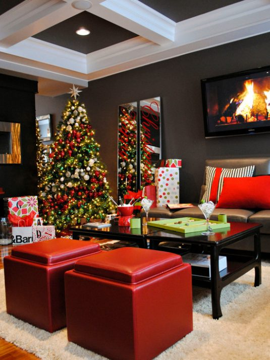 20+ Fantastic Ideas to Decorate Your Living Room For Christmas